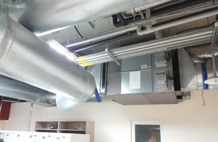 現場現有足量全熱交換器配置